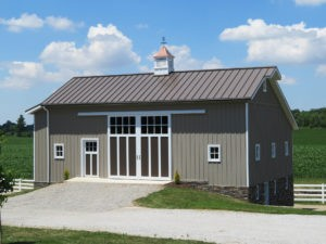Metal Exteriors - Brown Metal Roofing/Siding Barn Project