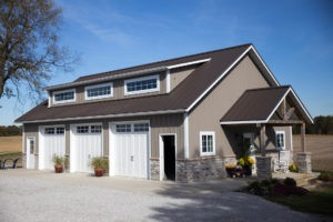 Metal Exteriors - Brown Metal Roofing/Siding Project