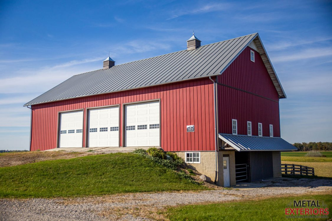 Metal Exteriors - Red Barn Standing seam Project 1